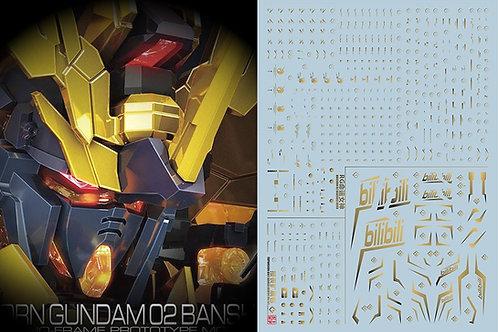 C20 RG 1/144 Banshee Gundam Metallic Gold