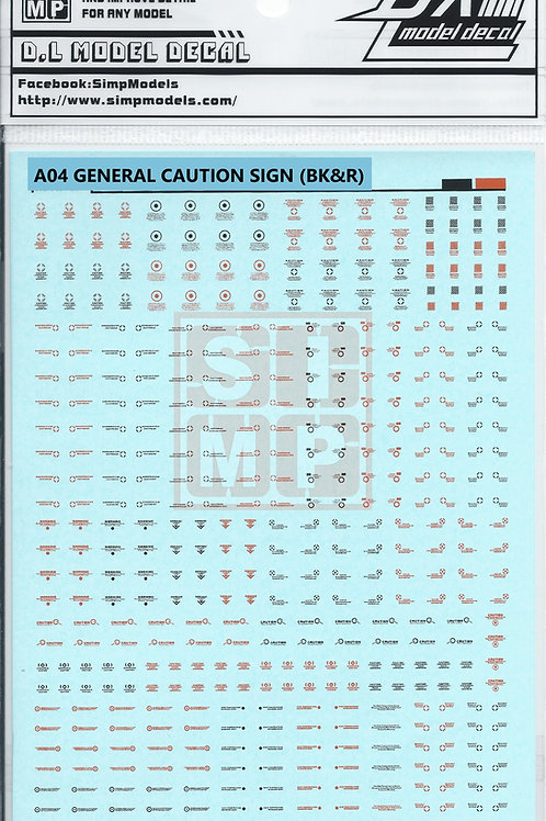 A04 General Design Warning Decal (1/100)