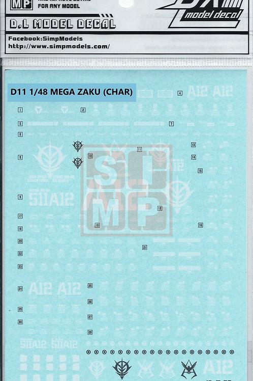 D11 1/48 MEGA SIZE ZAKU II CHAR'S CUSTOM