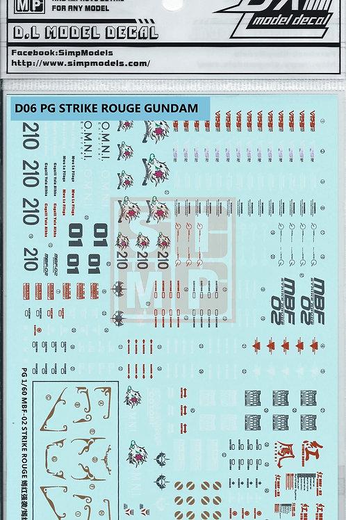 D06 (2PCS) PG 1/60 Strike Rouge Gundam + Sky Grasper