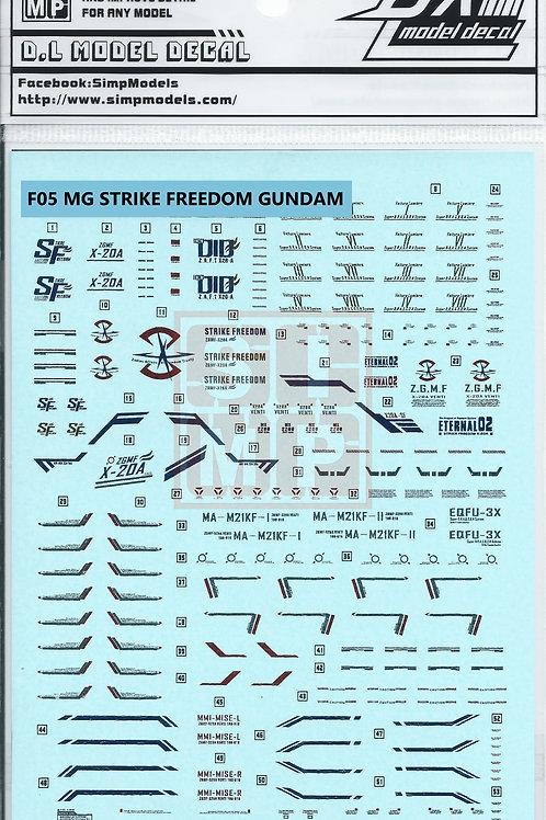 F05 MG 1/100 Seed Strike Freedom Gundam Metallic Gold