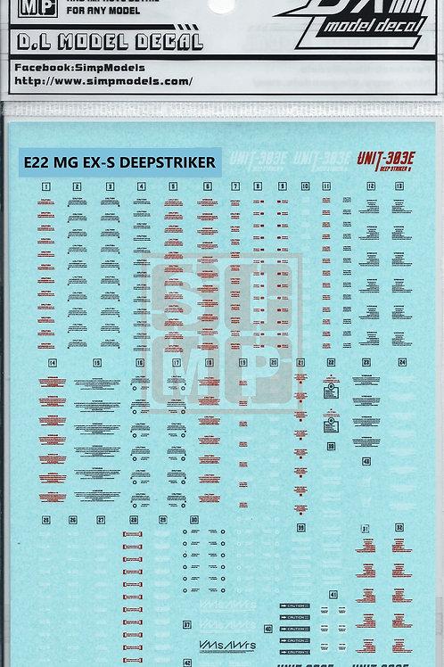 E22 MG 1/100 EX-S Deepstriker (2PCS)