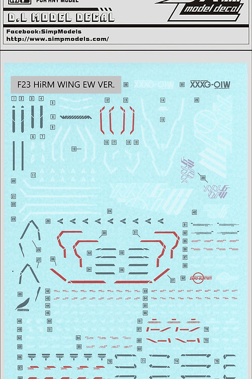 F23 HiRM Wing Gundam EW Ver.
