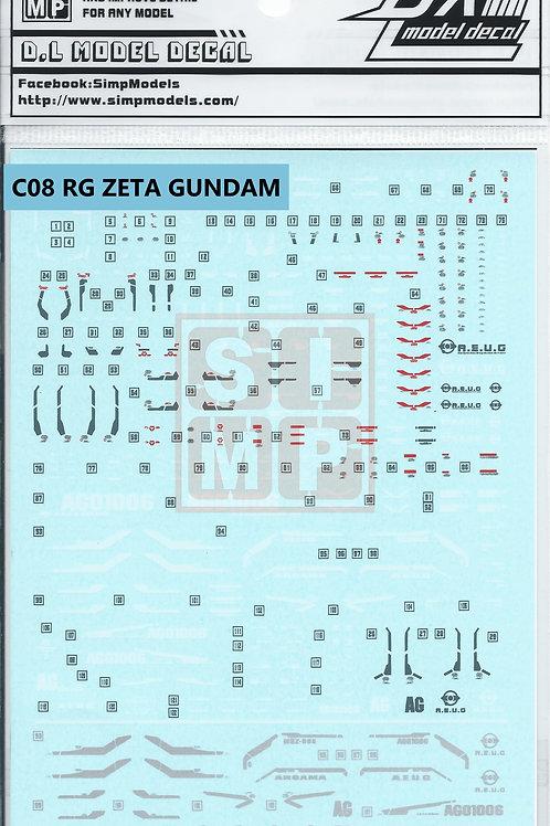C08 RG 1/144 Zeta Gundam