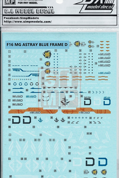F16 MG 1/100 Astray Gundam Blue Frame D