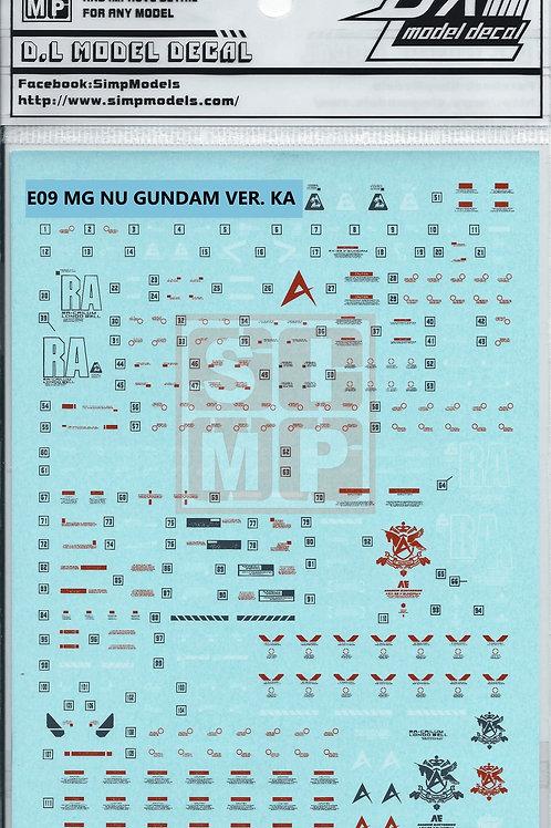 E09 MG 1/100 UC Nu Gundam Ver. Ka