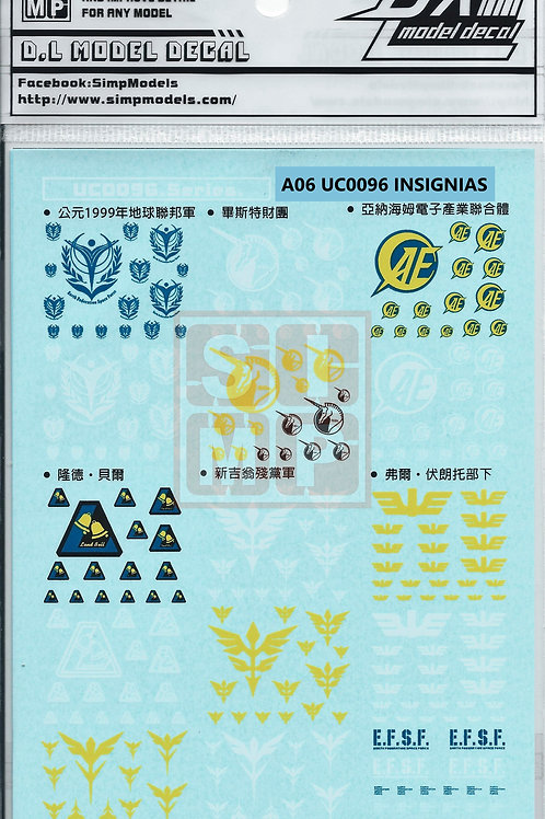 A06 General Design Water Decal UC0093-UC0096