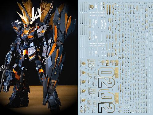 D03 (2PCS) PG 1/60 Unicorn Gundam Banshee Metallic Color Gold