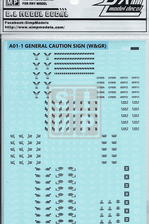 A01-1 General Design Warning Decal (1/100)