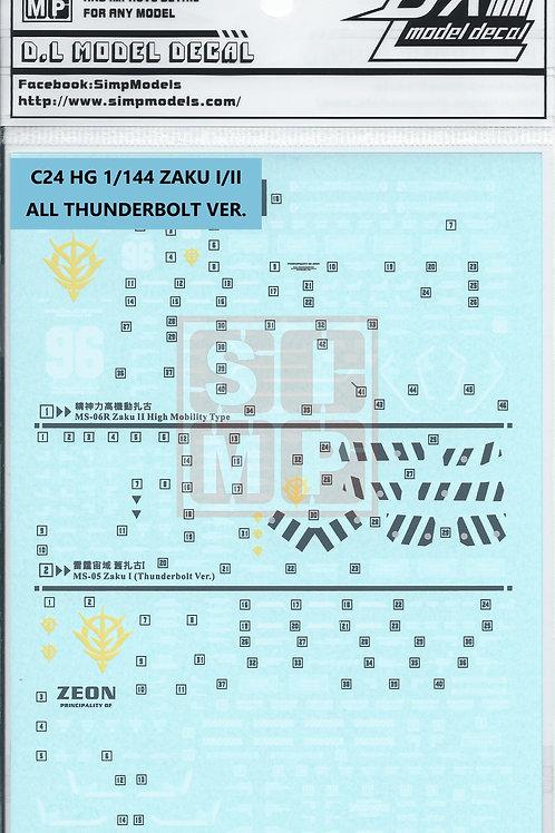 C24 HG 1/144 Zaku I/II in thunderbolt