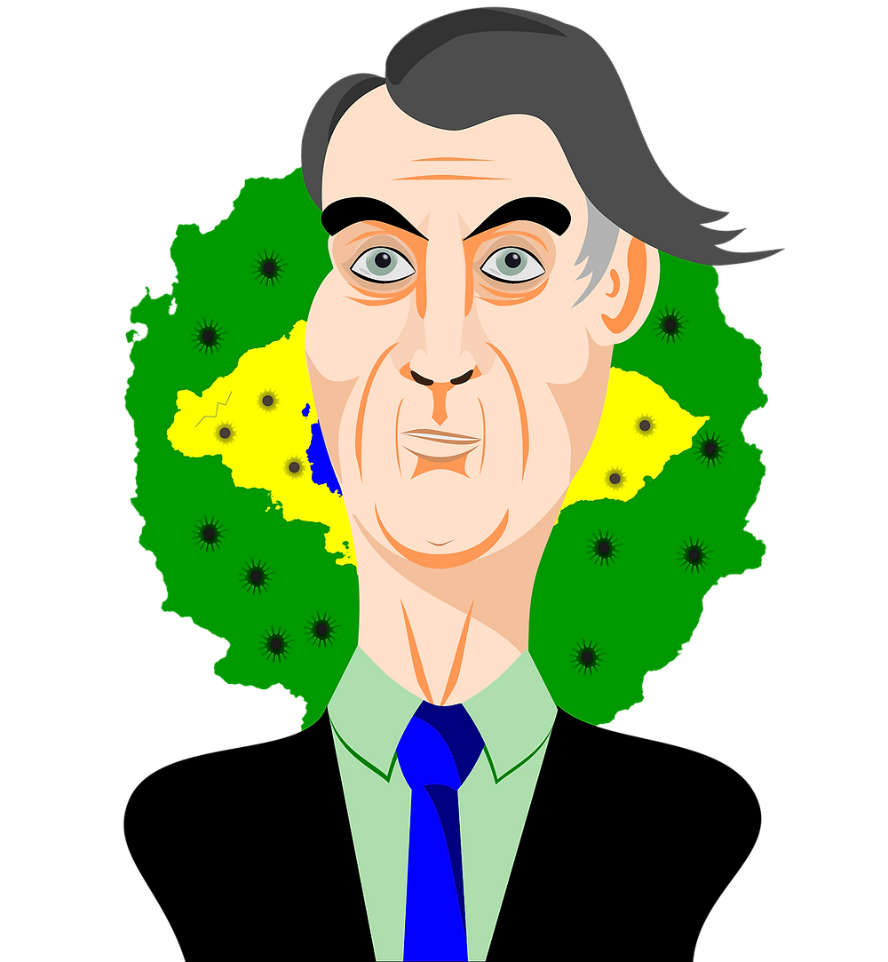 desenho presidente Jair Bolsonaro