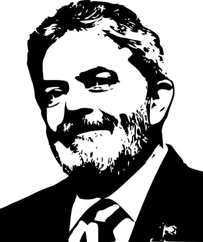 ex presidente Lula em preto e branco