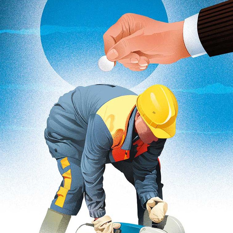 Paying Laborer