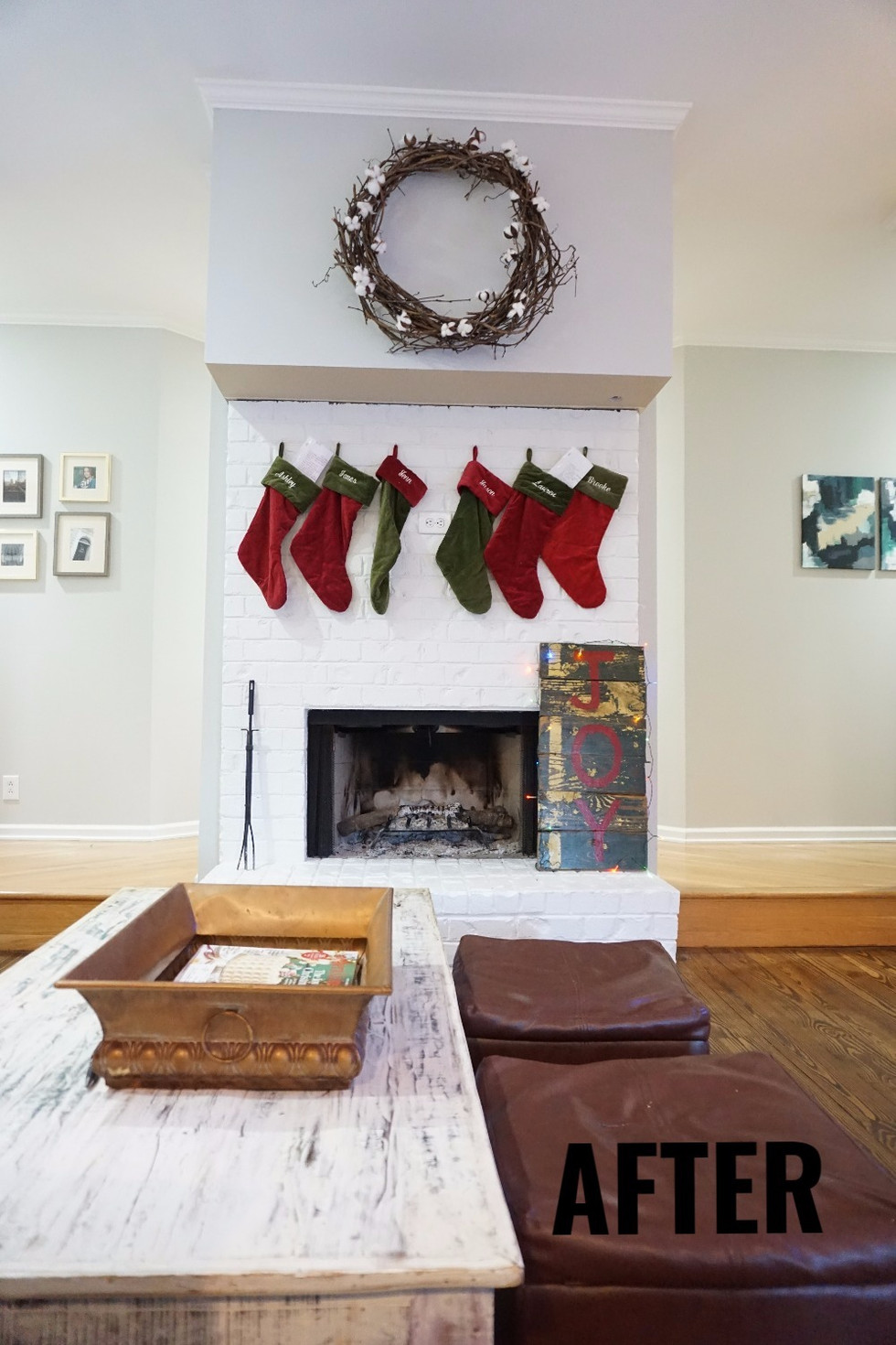 A Budget Friendly Fireplace Refresh