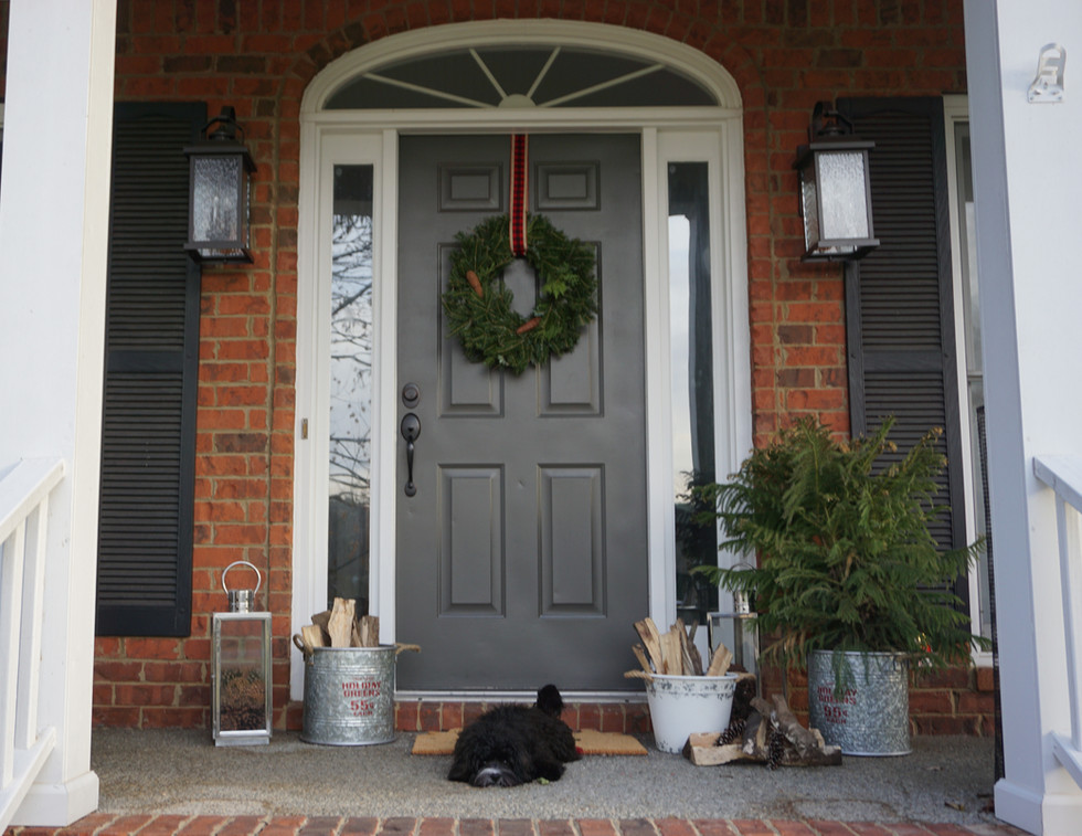 A Holiday Front Porch
