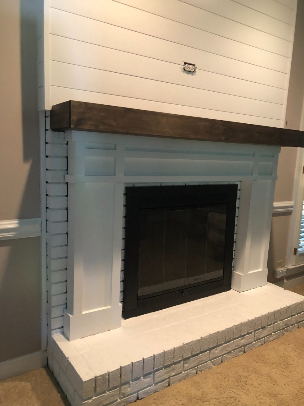 Cedarmont Farms Before and After Fireplace