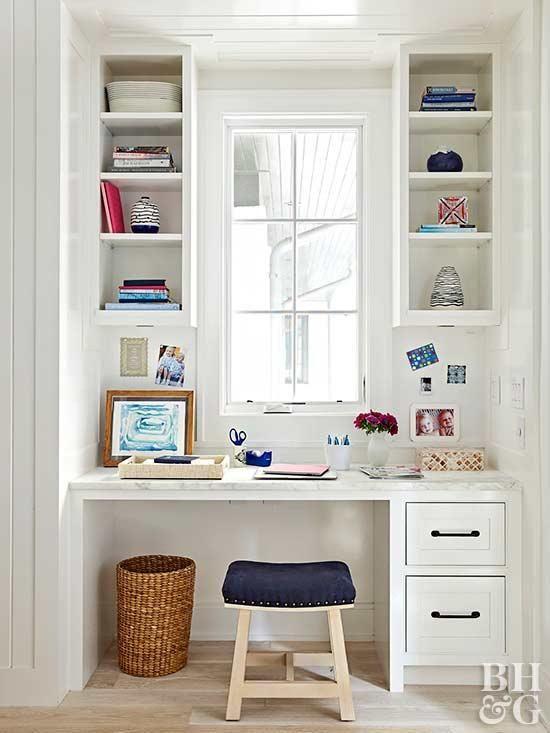 A Built-In Office Desk