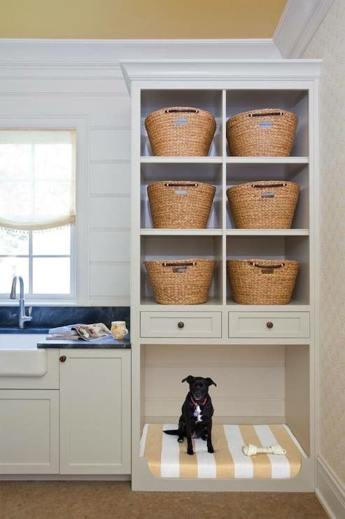 Inspiration: Laundry Rooms With The Perfect Place for Fido