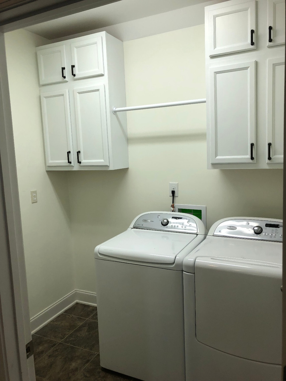 Ladd Park Laundry Room, Before and After