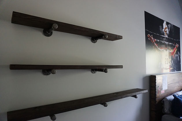September Client Projects Shiplap Shelving And Barn Door