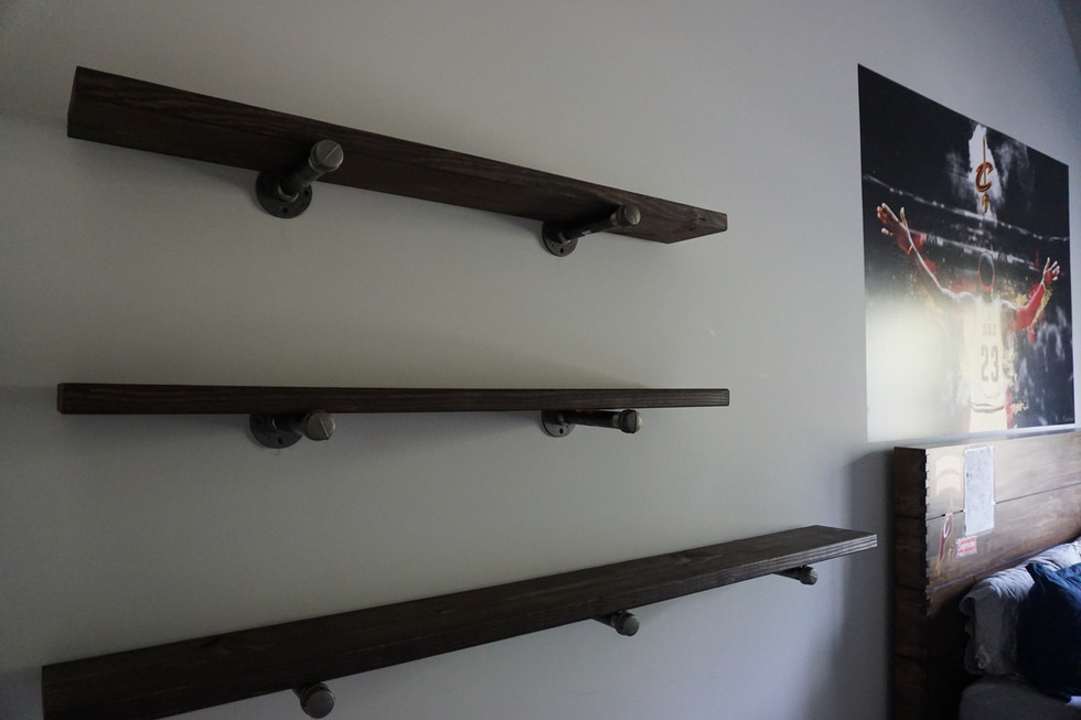 September Client Projects: Shiplap, Shelving and Barn Door