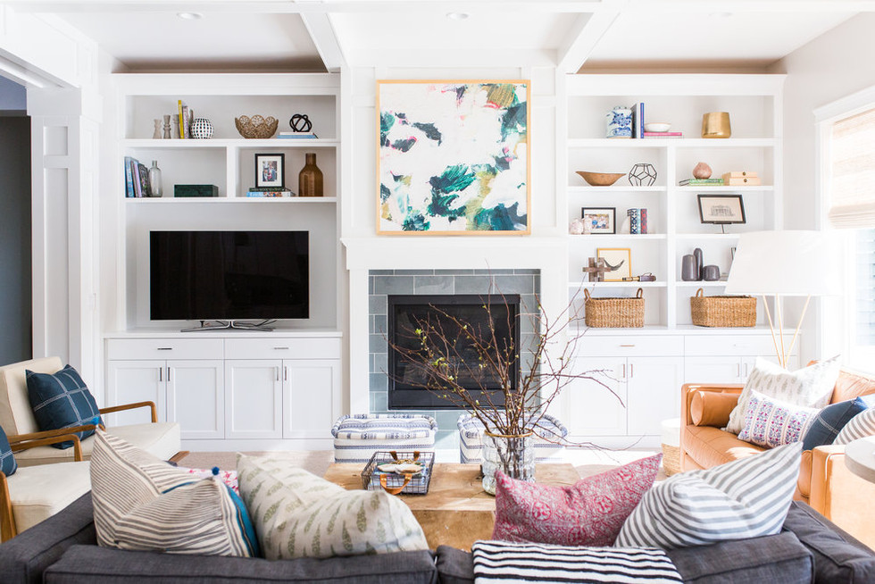 Weekday Inspiration: Entertainment Center In The Den