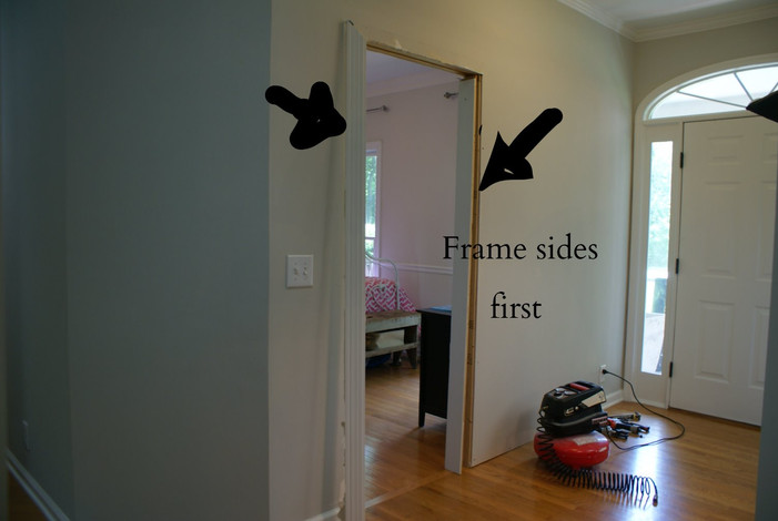 frame up the door frame sides this will establish your finished opening which will allow you to determine your door width and height - Door Frame Fan