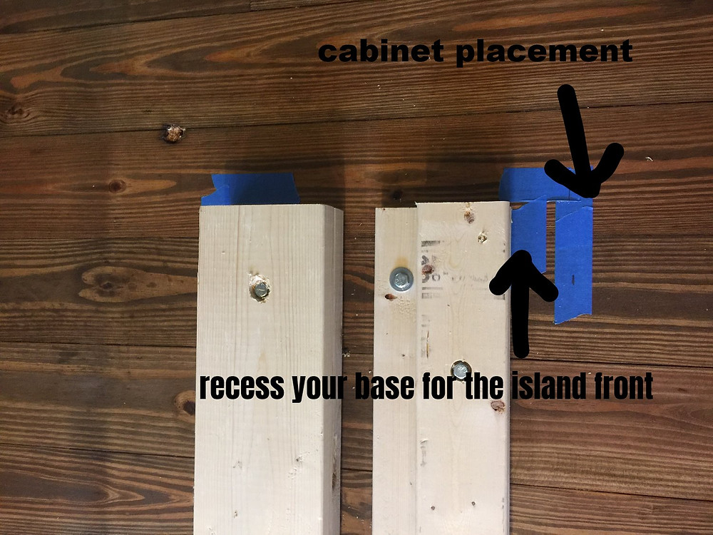 Securing your cabinet base to the floor