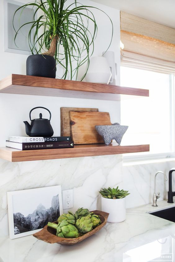 Inspiration: Styling Floating Shelving