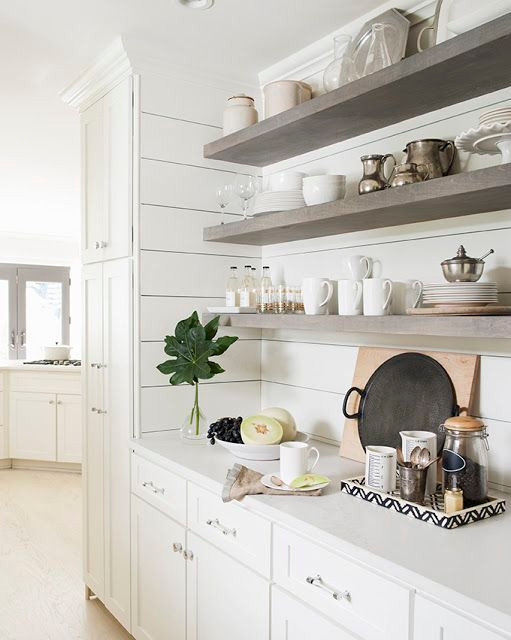 Inspire: Kitchen Shiplap and Floating Shelving, Client Project