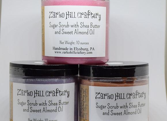 Sugar Scrub With Sweet Almond Oil - 10 oz.