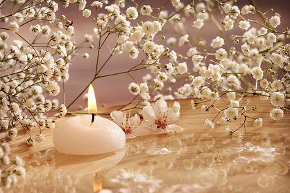 herdenkingskaars, waxinelicht met bloemen, kaars, afscheid, herdenken
