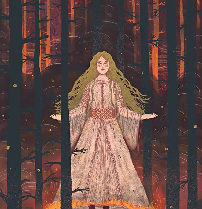 The Dark, or Pitch-Pine, Daughter of the Norse King...