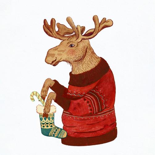 Candy Cane Moose