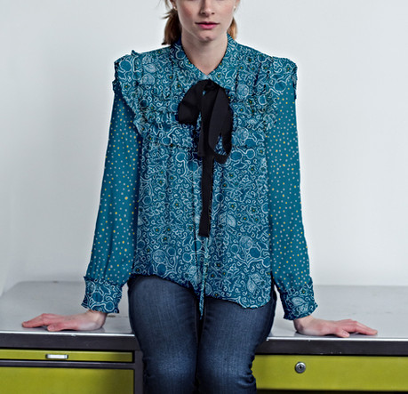 Ditsy Blue Blouse