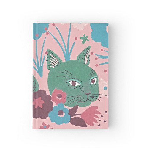 Floral Cat notebook