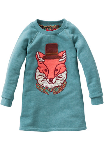 """Mr Fox"" sweatshirt dress"