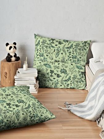 Flowers & Moths pillow