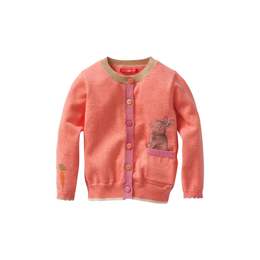 """""""Carrot Lover"""" printed knit cardigan"""