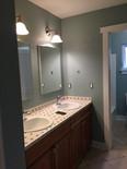 Bathroom walls painted