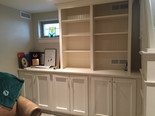 built in cabinet painted