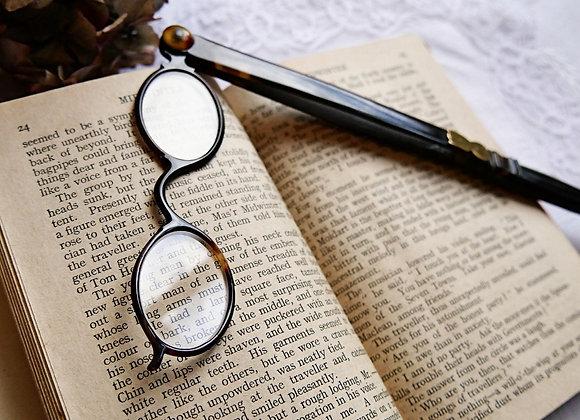 *送料無料* ヴィクトリア時代の読書眼鏡 ロニエット 持ち手付き