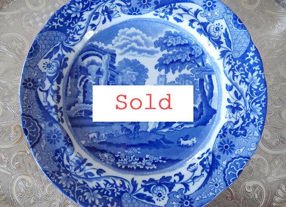 Sold 再入荷 *送料無料* コープランド スポード ブルーイタリアン ディナープレート 1924年