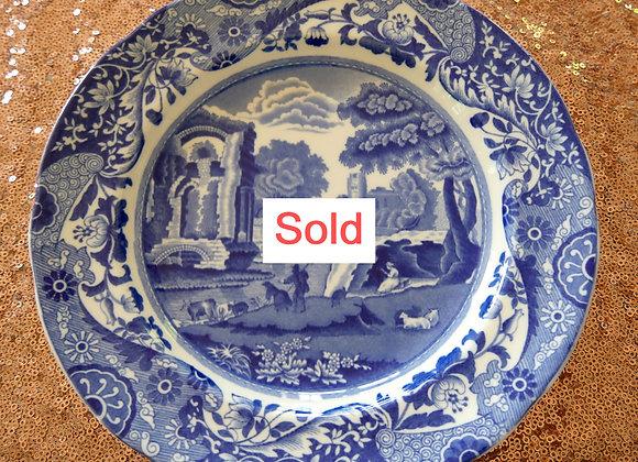 Sold *送料無料* コープランド スポード ブルーイタリアン  ディナープレート 22、5cm 1933年
