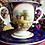 Thumbnail: <値下げしました> *送料無料* ロイヤルクラウンダービー ポーセリン チョコレートカップ アンド ソーサー 風景画