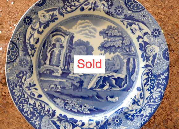 Sold *送料無料* コープランド スポード ブルーイタリアン  ディナープレート 22、5cm 1929年 12月