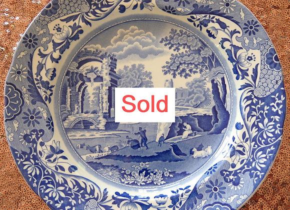 Sold 再入荷しました *送料無料* コープランド スポード ブルーイタリアン  ディナープレート 22、5cm 1