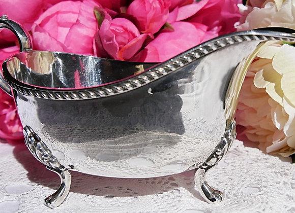 *送料無料* まるで鏡の様に輝く 美しい純銀のソースボート