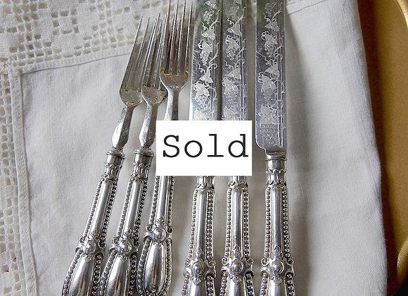 Sold *送料無料* ぶどう模様のナイフとフォーク *1組から