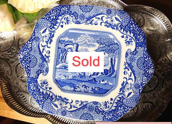 Sold *送料無料* スポード ブルーイタリアン B&B プレート ヴィンテージ